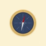 Kompas op het zand Royalty-vrije Illustratie