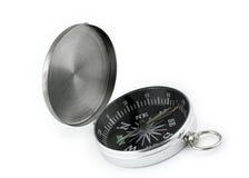 Kompas op wit Stock Afbeeldingen