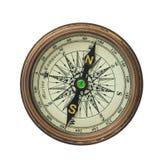 Kompas op witte achtergrond Royalty-vrije Stock Afbeelding