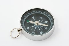 Kompas op witte achtergrond Stock Afbeelding