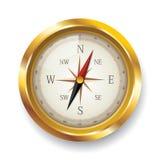 Kompas op witte achtergrond Royalty-vrije Stock Fotografie