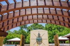 Kompas róży park w hilton głowie Georgia Zdjęcia Royalty Free