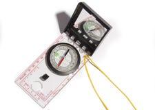 Kompas - reizen op onverkende plaatsen Stock Foto