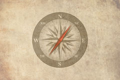 Kompas retro achtergrond Stock Foto
