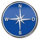Kompas, richting en aanwijzing royalty-vrije illustratie