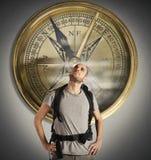 Kompas van ontdekkingsreiziger stock foto's