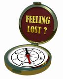 Kompas - Verloren Gevoel? Royalty-vrije Stock Afbeeldingen