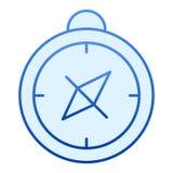 Kompas vlak pictogram Cartografie blauwe pictogrammen in in vlakke stijl r vector illustratie