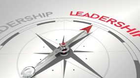 Kompas wskazuje przywódctwo ilustracja wektor