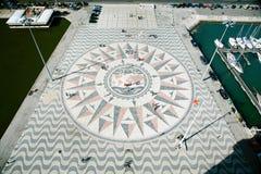 Kompas wzrastał od zabytku odkrycie w Lisbon Zdjęcia Royalty Free
