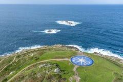 Kompas wzrastał w Coruna, Galicia, Hiszpania. Zdjęcie Stock