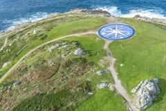 Kompas wzrastał w Coruna, Galicia, Hiszpania. Fotografia Royalty Free