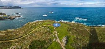 Kompas wzrastał w Coruna, Galicia, Hiszpania Fotografia Stock