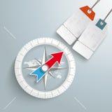 Kompas Zilveren Achtergrondprijssticker Royalty-vrije Stock Foto's
