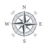 Kompaspictogram op witte achtergrond wordt geïsoleerd die Royalty-vrije Stock Afbeeldingen