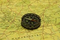 kompassöversikt över Royaltyfri Fotografi