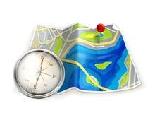 kompassöversikt stock illustrationer