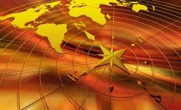 kompassöversiktsvärld Royaltyfri Fotografi