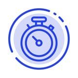 Kompass översikt, navigering, Pin Blue Dotted Line Line symbol stock illustrationer