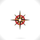 Kompass altmodisch Stockbild