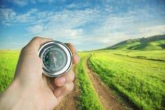 Kompass auf Art Stockfotos