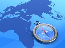 Kompass auf ursprünglichem Hintergrund Lizenzfreies Stockfoto