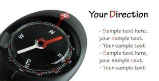 Kompass auf Weiß Lizenzfreies Stockbild