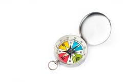 Kompass auf Weiß lokalisiertem Hintergrund Lizenzfreies Stockfoto