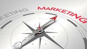 Kompass, der auf Marketing zeigt vektor abbildung
