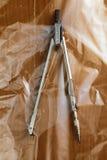 Kompass in der Plastiktasche Stockfoto
