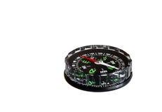 Kompass der schwarzen Farbe auf einem weißen Hintergrund Stockbild
