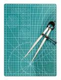 Kompass in der Zeichnung stockfoto