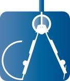 Kompass för arkitektur Arkivfoto