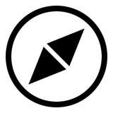 Kompass Glyphikone Lizenzfreie Abbildung
