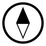Kompass Glyphikone Vektor Abbildung