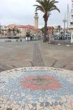 Kompass i port av Le Grau-du-Roi, Frankrike royaltyfria foton