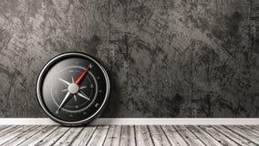 Kompass i rummet med Copyspace stock illustrationer