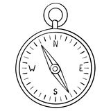 Kompass klotter stock illustrationer
