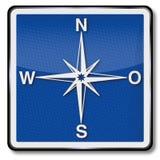 Kompass, kompassros och indikering av riktningen vektor illustrationer