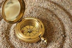 Kompass-Magnetfeld stockbild