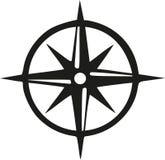 Kompass med cirkeln vektor illustrationer
