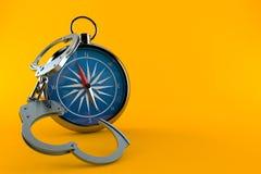 Kompass med handbojor vektor illustrationer