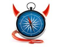 Kompass med jäkelhorn royaltyfri illustrationer