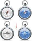 Kompass med pekaren Arkivbild