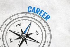 Kompass med pilen och karriär royaltyfri illustrationer