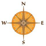 Kompass med pilpunkter vektor illustrationer