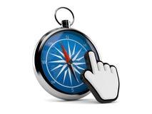 Kompass med rengöringsdukmarkören stock illustrationer