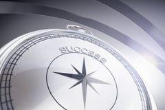 Kompass mit Erfolgsaufschrift Stockbild