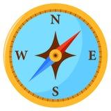 Kompass på vit bakgrund vektor illustrationer