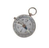 Kompass på vit bakgrund Royaltyfri Bild
